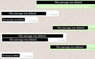 App: whatsapp  delete  app  messaggi