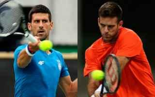 Tennis: tennis grand slam del potro djokovic