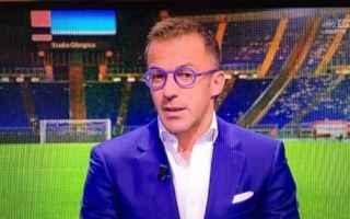 Calcio: del piero  juventus calcio occhiali