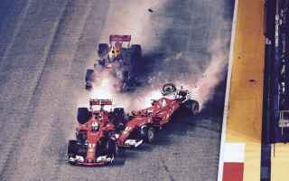 ferrari  singapore  incidente  verstappe