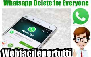 App: whatsapp  delete for everyone