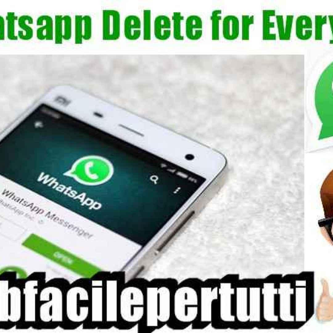 (Whatsapp Delete for Everyone) La Funzione Che Permette Di Cancellare I Messaggi Inviati