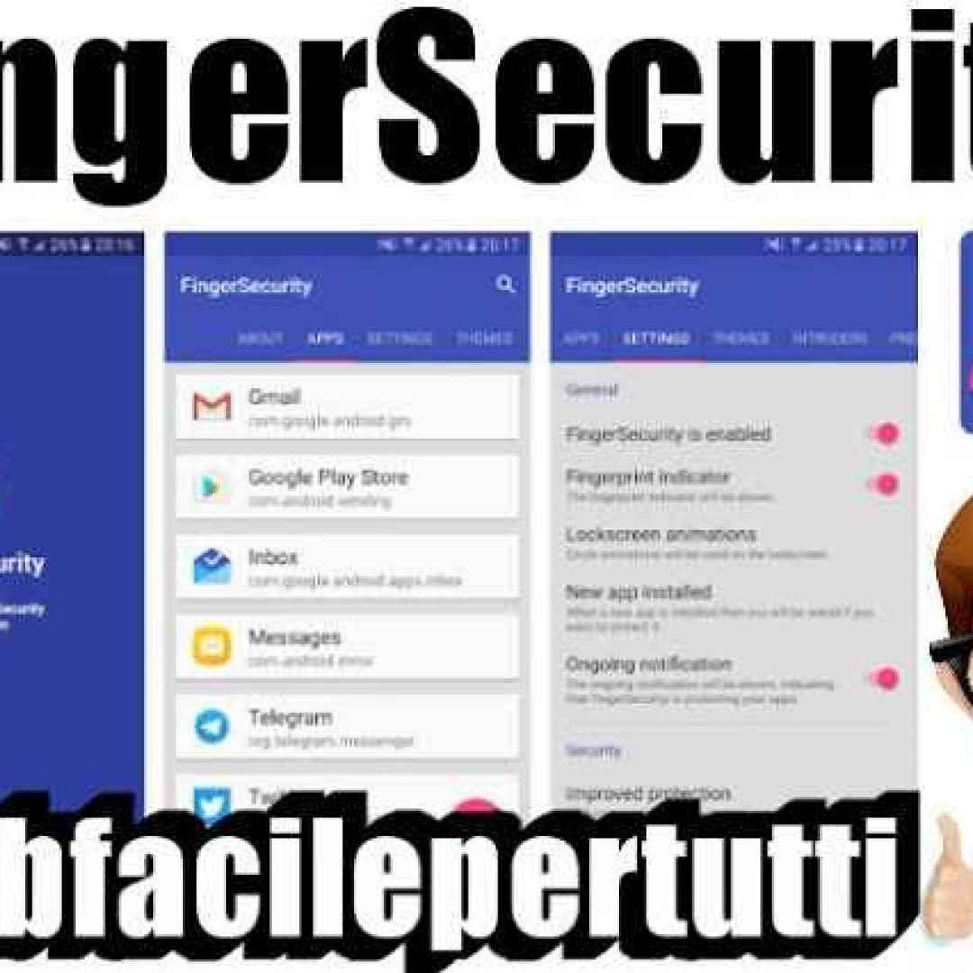 finger  security  app  impronta
