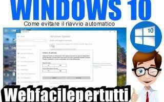 Computer: windows 10  riavvio automatico