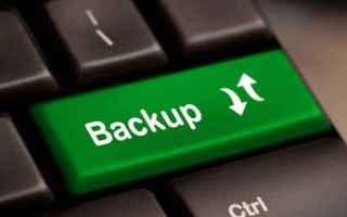 Webmaster: backup  sito web