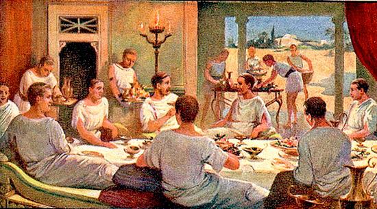 Antica roma banchetti e abbuffate antica roma for Cibo romano