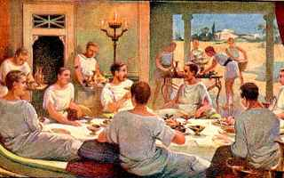 Storia: antica roma banchetti  convivia