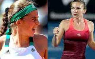 Tennis: tennis grand slam halep ostapenko pechin