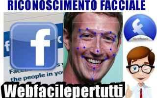 Facebook: facebook riconoscimento facciale