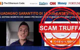 Borsa e Finanza: scam  truffa  ethereum code  bitcoin