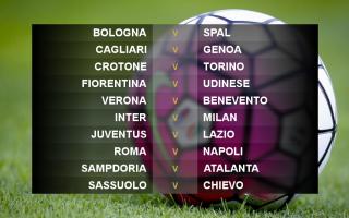 Serie A: serie a  formazioni  live