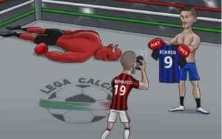 Calcio: inter  milan calcio derby twitter serie