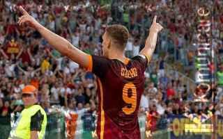 roma  dzeko  champions league