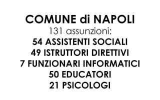 Napoli: comune napoli concorso  educatori napoli