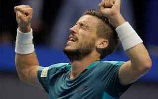 Tennis: tennis grand slam fognini dzumhur vienna