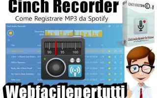 mp3  spotify  cinch recorder
