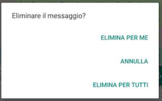App: eliminare messaggi  whatsapp  messaggi