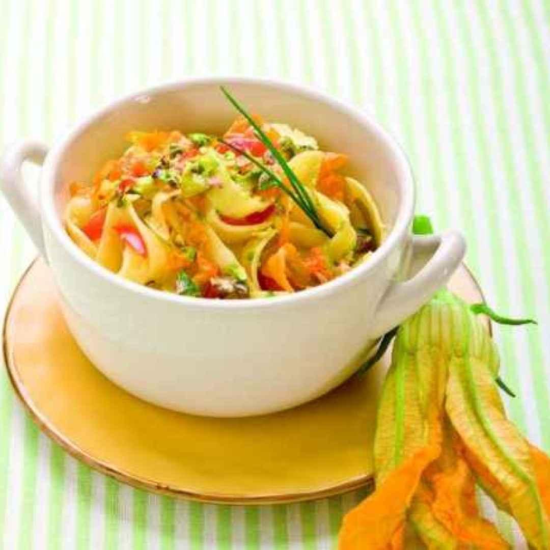 senza glutine  ricette  tagliatelle  fiori di zucca  zucca