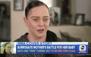 dal Mondo: Madre surrogata mette al mondo un gemello biologicamente suo