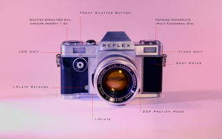 fotografia reflex analogico vintage