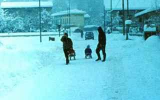Meteo: neve  1985  anni 80  nevicata