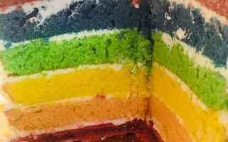 Ricette: torta arcobaleno  rainbow cake  torta
