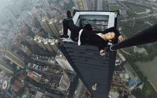 Immagini virali: selfie grattacielo fotografia