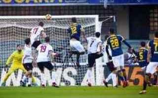 Serie A: tabellino  verona  milan