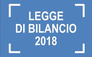 Fisco e Tasse: legge bilancio 2018