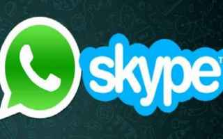 skype  whatsapp  messaggistica  app