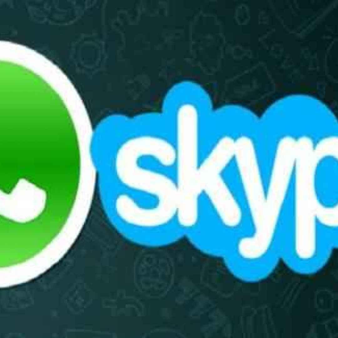 skype  whatsapp  messaggistica  app