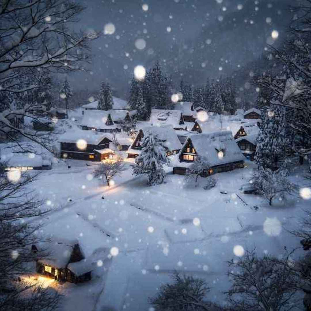 fotografia giappone neve inverno