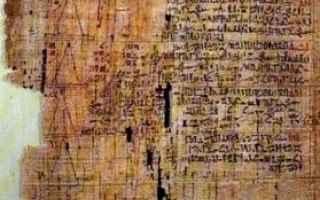 Storia della matematica e i primi utilizzi di numeri e di figure geometriche. <br />Legiziano Papir