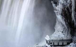 Foto online: fotografia cascate niagara neve