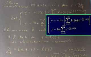 Scienze: Spostare il problema della congettura di Riemann nel campo della meccanica analitica