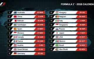 Formula 1: formula 1  f1  calendario f1