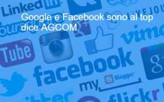 Social Network: agcom facebook google whatsapp instagram