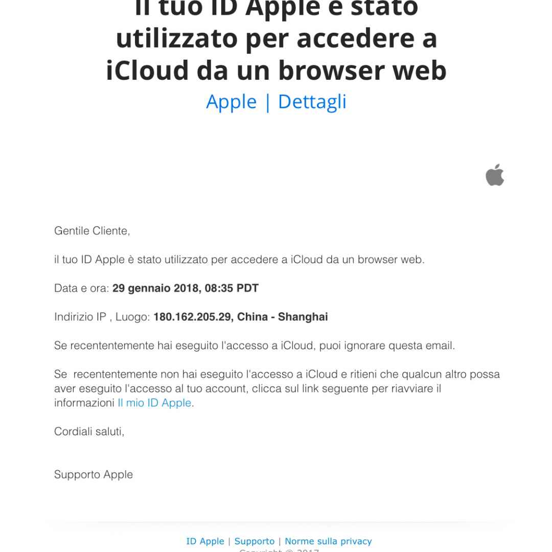 icloud mail accesso