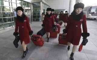 Sport Invernali: olimpiadi  corea  cheerleader  corea del nord