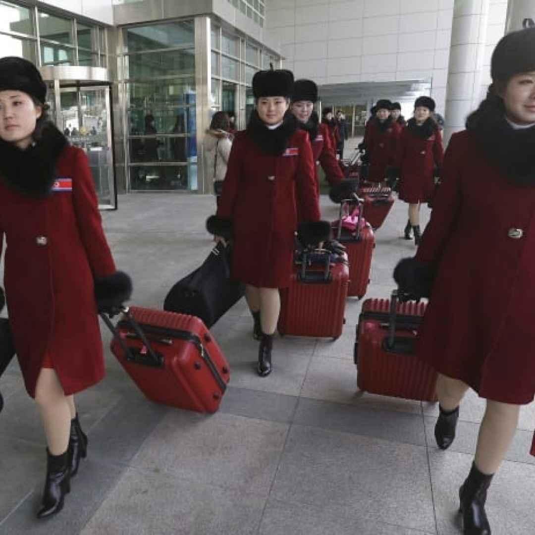 olimpiadi  corea  cheerleader  corea del nord