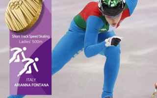 Sport Invernali: arianna fontana  olimpiadi  corea  short track  oro olimpico  olimpiadi invernali