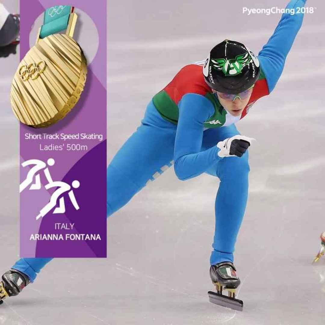 arianna fontana  olimpiadi  corea  short track  oro olimpico  olimpiadi invernali