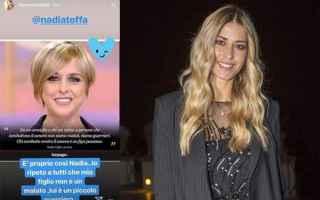 Elena Santarelli, compagna dellex attaccante di Lazio e Manchester City Bernardo Corradi, ha rivelat