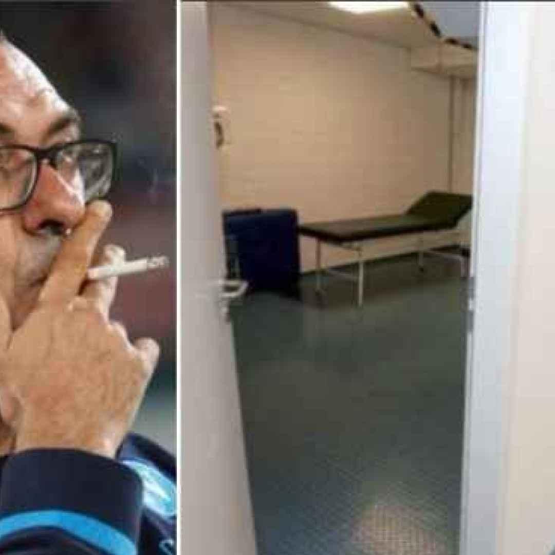 sarri  napoli  lipsia  europa league  stanza fumatori