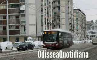 atac  roma  trasporto pubblico  neve