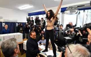 Politica: femen  berlusconi  elezioni 2018