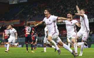 Calcio: milan  andrè silva  serie a