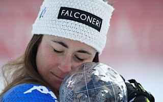 Sofia Goggia dopo l'oro olimpico vince anche la Coppa di Discesa, arrivando seconda dietro a Linds
