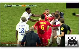 Calcio Estero: rissa  ligue 2  auxerre