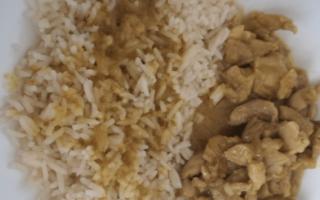 ricette al microonde  pollo al curry